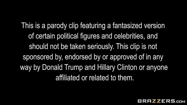 Porn parody. Political debates with Hillary Clinton